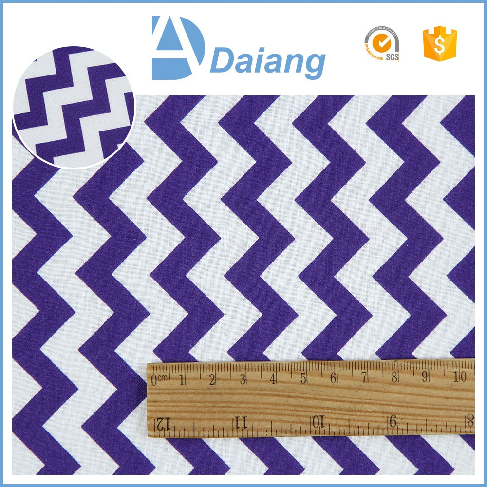 wholesale cheap custom 100 cotton printed wave geometrical printed muslin fabric for sofa stock