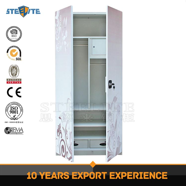 New Design Home Furniture Steel Clothes Almirah Indian Metal ...