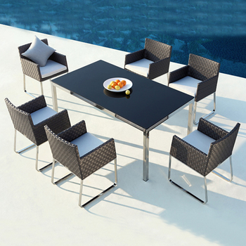 Rattan Outdoor Dining Set Garden Table And Chairs Buy Table And