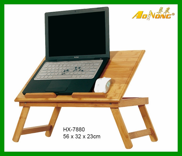 Modern Laptop Table cheap small computer desk modern bed / sofa folding bamboo laptop