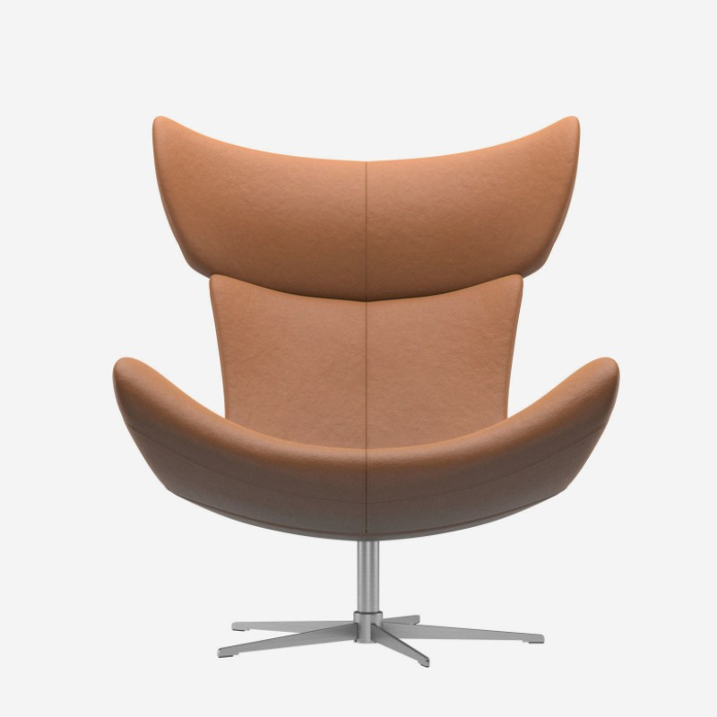 Leisure Dining Luxury Fiberglass lounge designer leather Henrik Pedersen Accent modern Imola lounge armchair