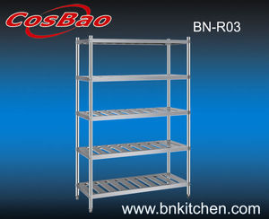 Commercial kitchen stainless steel shelf /detachable Five deck rack shelf BN-R03