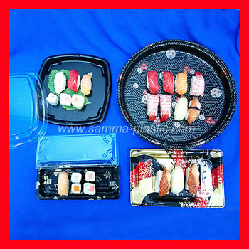 SM1-1103B plastic sushi tray party tray food container