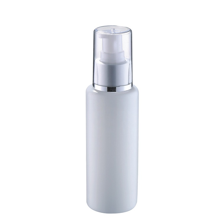 skin care cosmetic packaging delicate 80ml ceramic diffuser bottle with matte silver pump