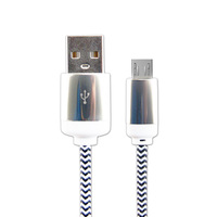 USB cable 2.0 Nickel Plated Long braided cable Charging+Data Transfer for Samsung with top quality