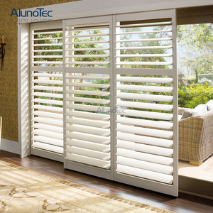 High Grade Aluminium Louvre Sliding Doors/Aluminium Outdoor Sliding Shutters for Project