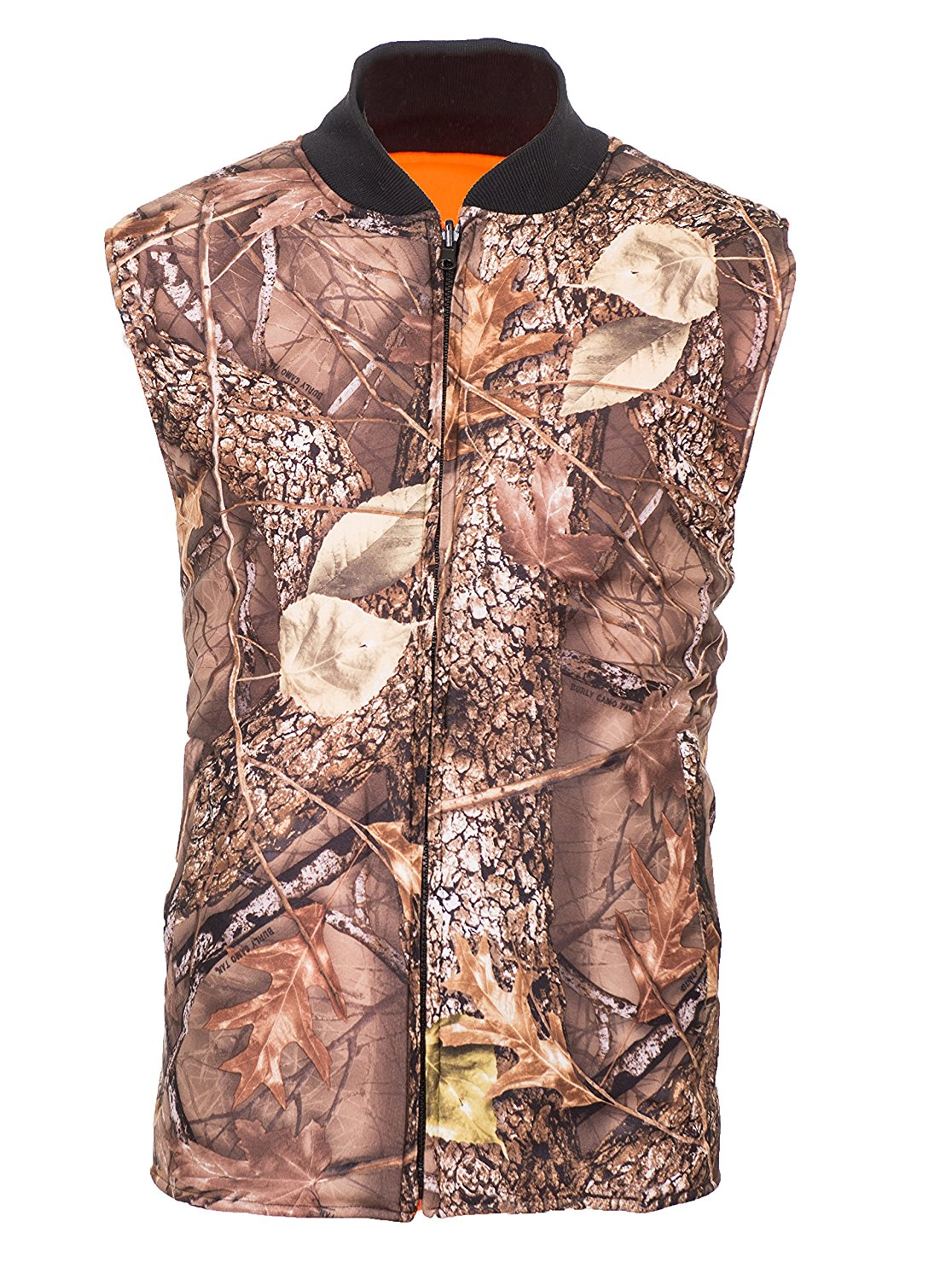 c3e98659fede6 Get Quotations · Reversible Burly Tan Camo/Blaze Orange Insulated Hunting  Vest