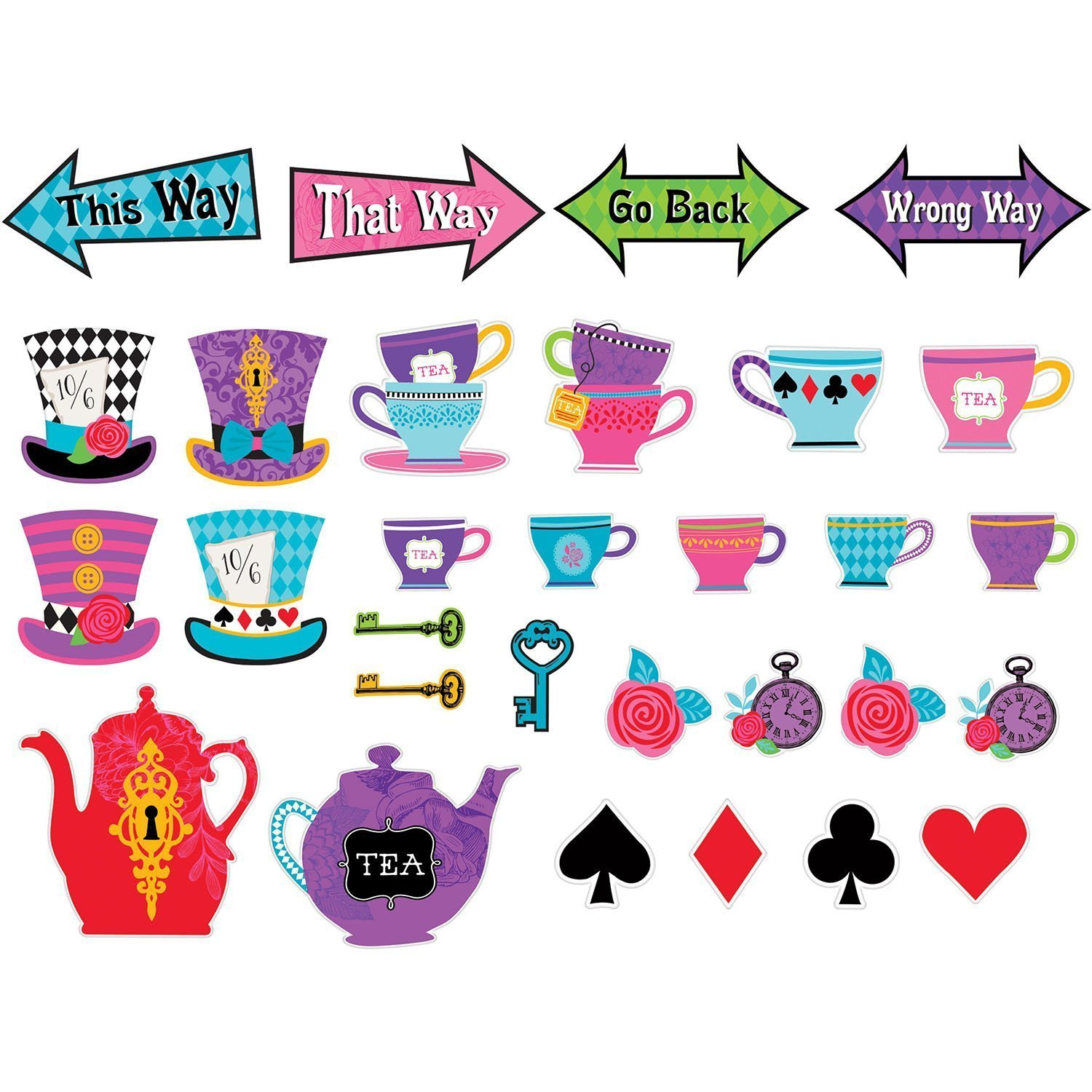 Amscan Mad Tea Party Cutouts (60 Count)