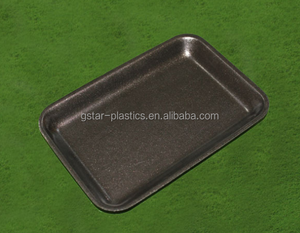 Black Fruit Foam Tray Customized Foam Meat Trays For Supermarket