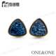 Top Design Gorgeous Triangle 8*8*8 Amethyst Druzy Earring Natural Drusy Stud Earrings Wholesale Jewelry ONEE100037-9