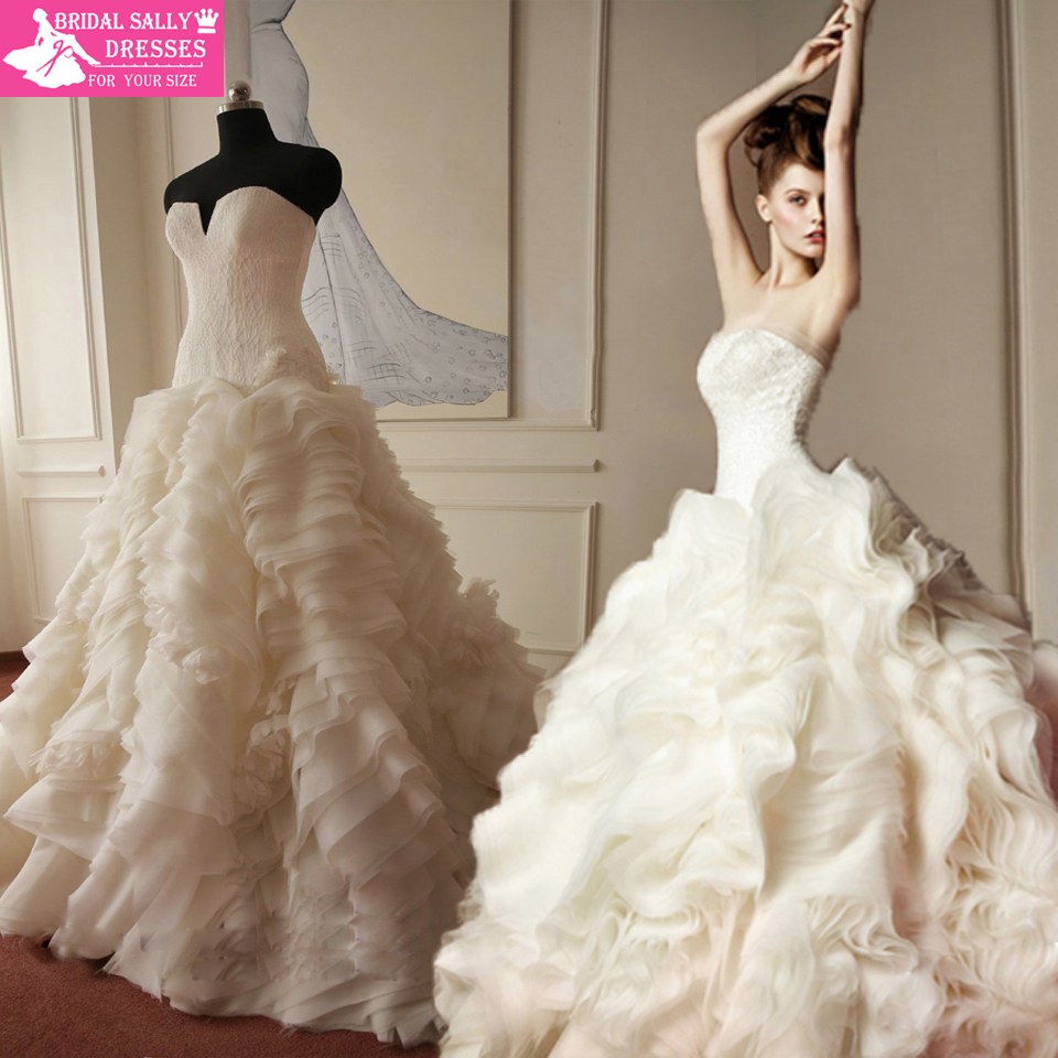 Prices In Euros Honorable Ruffles Real Sample Lace Wedding