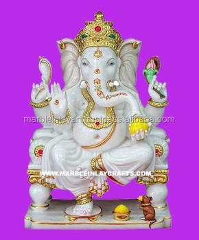Stone Ganesh Moorti Marble Ganpati Statue Marble Handmade Ganesh