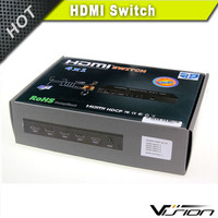 4K x 2K 4 Port High Speed HDMI Switch With IR wireless Remote power adapter Supports 3D 1080P Deep Color