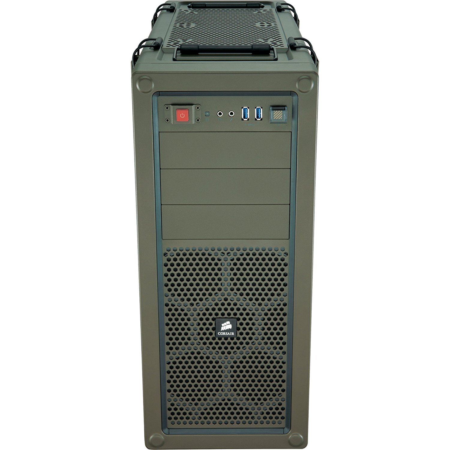 Corsair CC-9011018-WW Vengeance C70 Mid-Tower Gaming Case - Military Green - Mid-tower - Military Green - Steel - 9 x Bay - 3 x Fan(s) Installed - ATX, Micro ATX Motherboard Supported