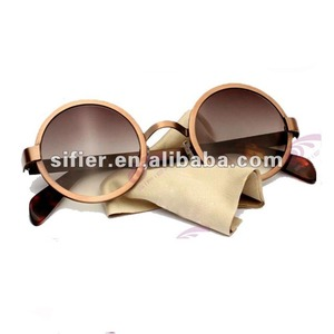 High Quality Classic Round Low Temple Design Sunglasses