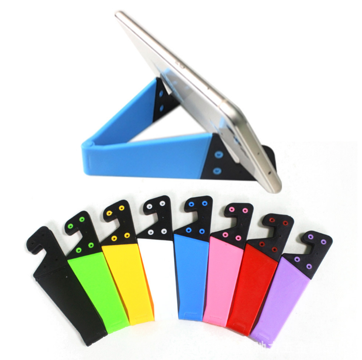 Logo printed promotional V shape folding mobile cell phone stand фото