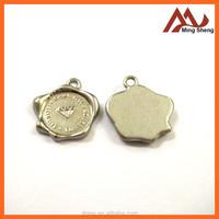 new design matte silver metal flower Charm For Ladies Handbag