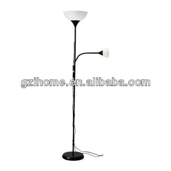 Contemporary style adjustable 2 light floor lamp blue plastic shade contemporary style adjustable 2 light floor lamp blue plastic shade aloadofball Image collections