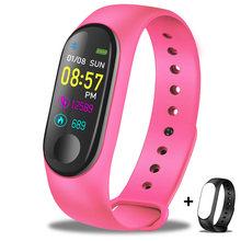 LIGE 2019 новые умные спортивные часы женские пульсометр монитор кровяного давления умный Браслет фитнес-трекер Шагомер PK M3 полоса + коробка(Китай)