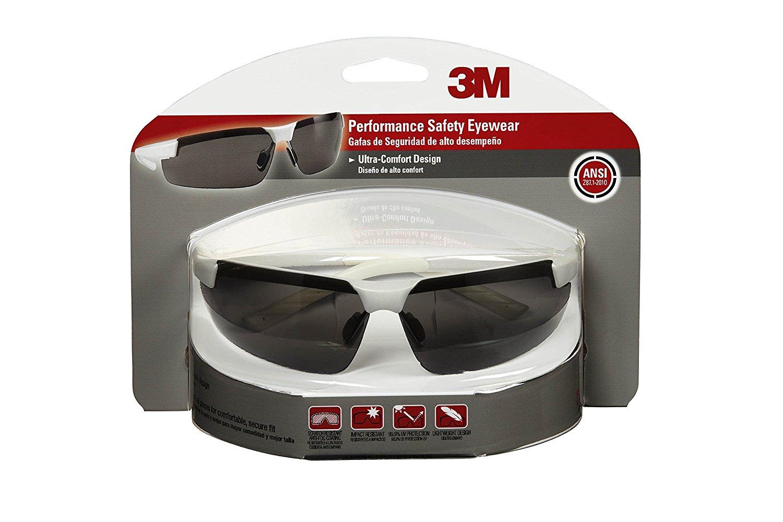 6ab36734421b3 Get Quotations · 3M 47080-WZ4 Safety Eyewear, Ultra-Comfort Design, White  Metallic Frame,