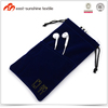 Oem silk screen logo print microfiber soft cell phone pouch