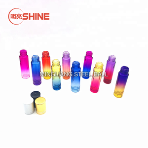 5ml 10ml Essential Oil Gradient Color Glass Roller Ball Bottle with Gold Cap for Perfume Roll On Glass Bottle