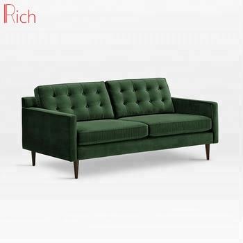 Mid Century Home Furniture 2 Seater Green Velvet Loveseat Sleeper Sofa Buy Sleeper Sofa Hotel Furniture Sleeper Sofa Hotel Furniture Velvet Sleeper