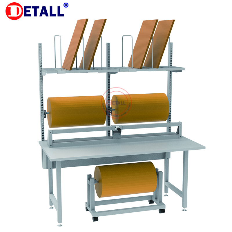 Detall Customized height adjustable factory packing station/table for warehouse with packaged cutting