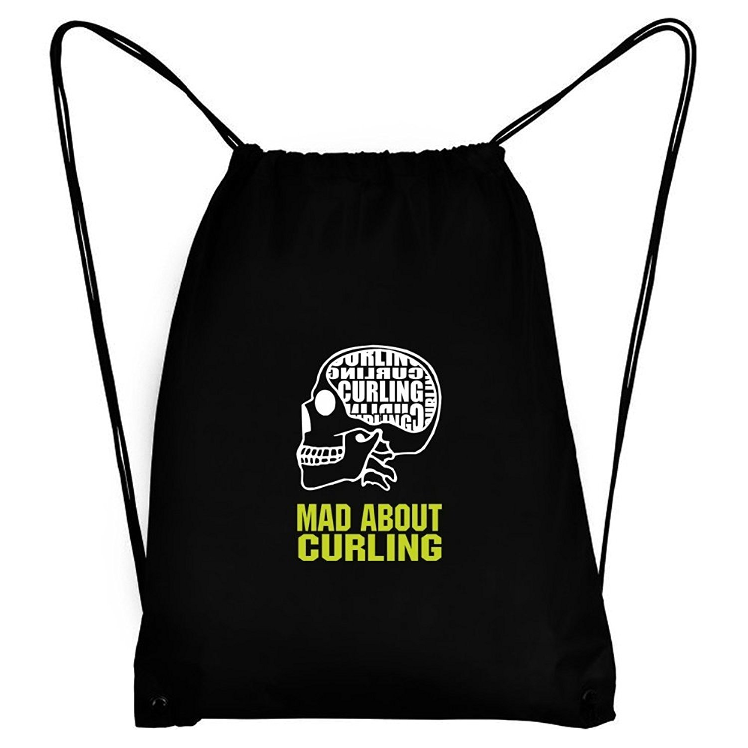 Teeburon MAD ABOUT Curling SKULL Sport Bag