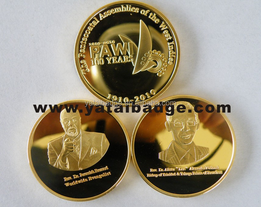 PAWI 100 years-Anniversary metal pure-gold coin