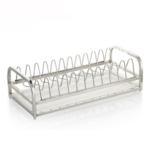 drainer plate stand dinner plate storage holder Rack with Stainless Steel Tray