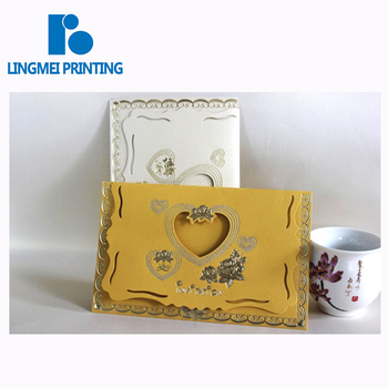 OEM &ODM custom size full color wedding invitation paper card printing with high quality in Guangzhou China