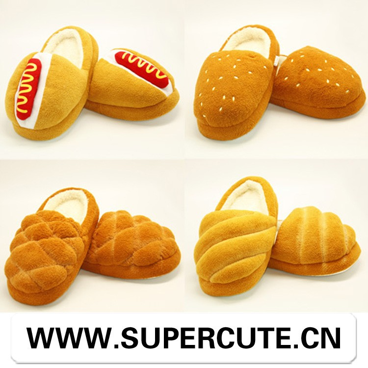 2015 Hot selling Funny bread <strong>slippers</strong>