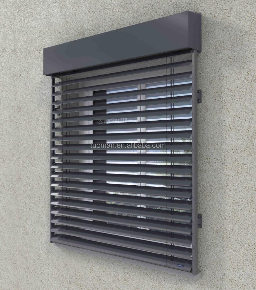 Aluminium aussenjalousie fensterladen schatten und for Store exterieur lame orientable