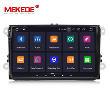 "Mekede IPS + DSP 9 ""2 + 16G Android9.0 1Din DVD לרכב GPS רדיו עבור <span class=keywords><strong>v</strong></span>-w פאסאט b5 b6 <span class=keywords><strong>גולף</strong></span> 4 5 פולו עבור סקודה אוקטביה רכב וידאו סטריאו"