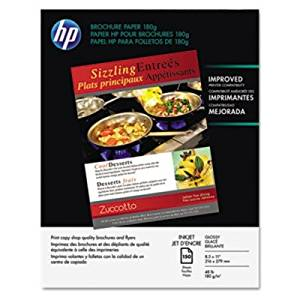 HP Brochure/Flyer Paper - Letter - 8.50quot; x 11quot; - 48 lb - Glossy - 98 Brightness - 150 / Pack - Glossy