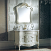 HS-615 foshan white solid wood popular pretty luxury antique bathroom vanity