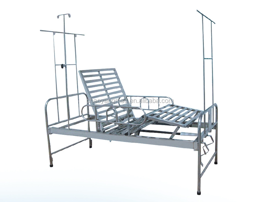CE certification good quality Double manual crank stainless steel hospital bed CY-A114A