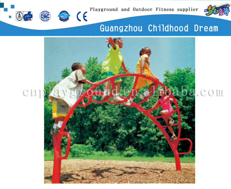 (HD-14101)Kids outdoor playground metal climber steel climbing frame toys and games outdoor