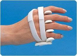 "LMB Soft Core Wire-Foam Ulnar Deviation Splint, Left Size: Avg. Female, S Male 2&7/8""; - 3 3/4"""