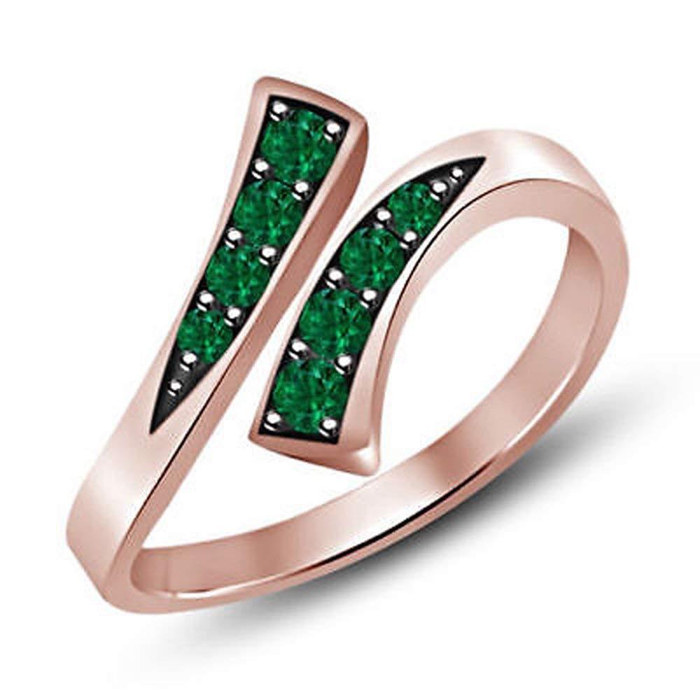 Ringjewels 2.22 Ct Emerald Cut Sapphire /& Sim Diamond Drop Earrings Solid 14K Gold Plated 925 Sterling