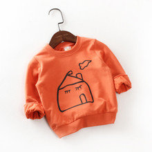 OEM service casual long cartoon t shirt for kids