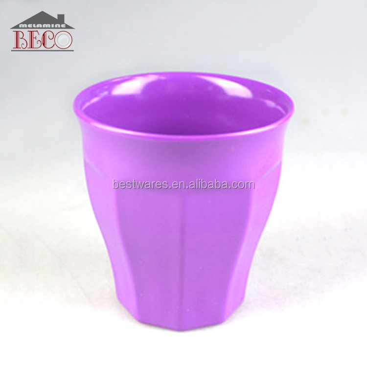 Colourful recycled 200ml big plastic water drinking kitchen cups