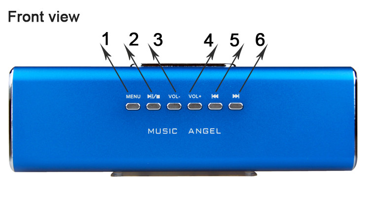 Mini Speaker Electronic Junjiahao Pen Drive Music Player Speaker ...