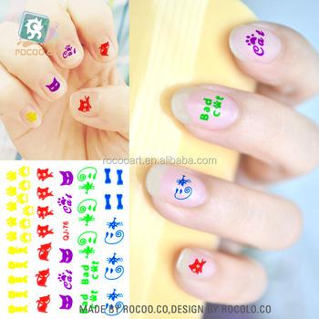 Sq 76fluorescent Sticker Tattoo Sticker For Nail Buy Fluorescent