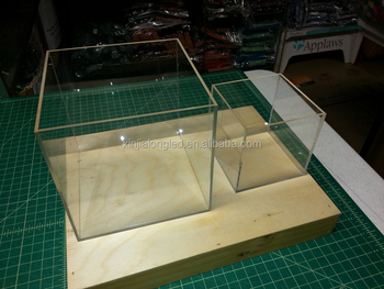 Cube Clear Acrylic Storage Boxes And Bins 5 Sided Acrylic Cubes 6u0026quot;x  6u0026quot;