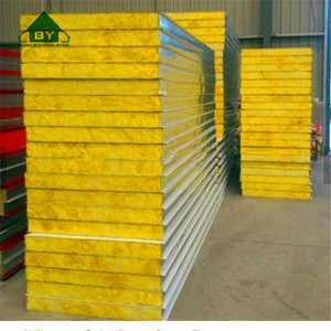 Yellow Rockwool Sandwich Panel for Roof and Wall