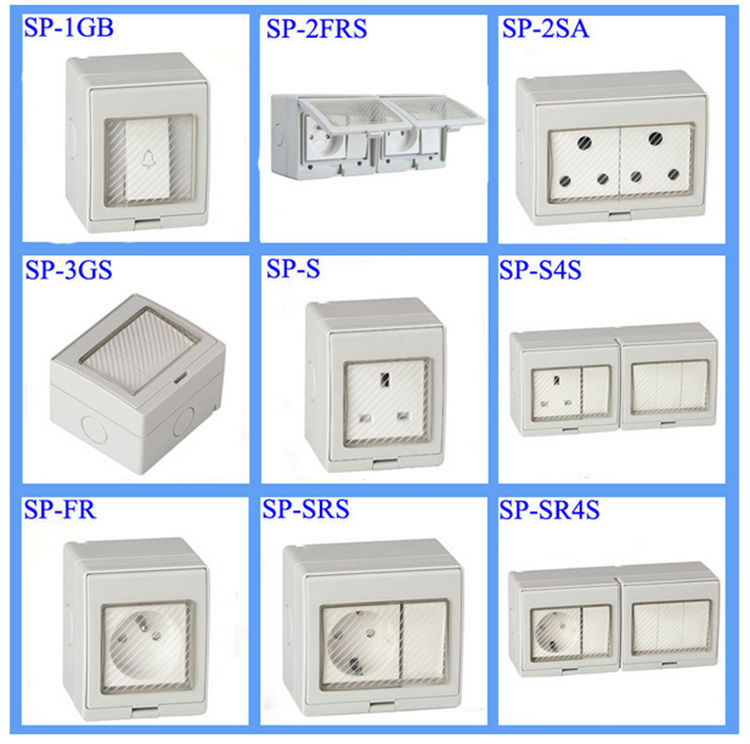 Saipwell High Quality French Waterproof Outdoor Socket