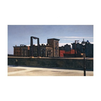 Free Shipping Edward Hopper Giclee Canvas Print Paintings Poster Reproduction Fine Art Wall Decor(Manhattan Bridge Loop)