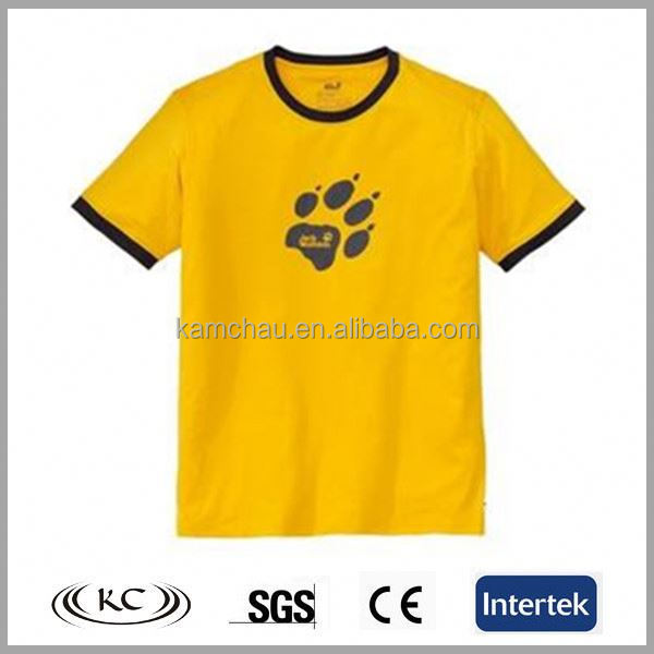 Wholesale Stylish Good Price Man Yellow Company T Shirt Design Ideas
